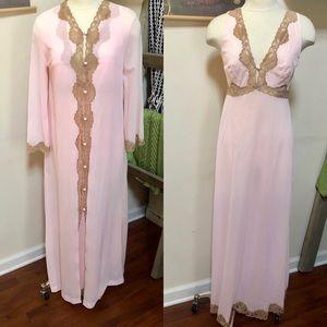 60's EMILIO PUCCI Peignoir Gown & Robe Set Small